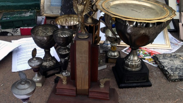 Many of the club's trophies were damaged or destroyed in the fire.